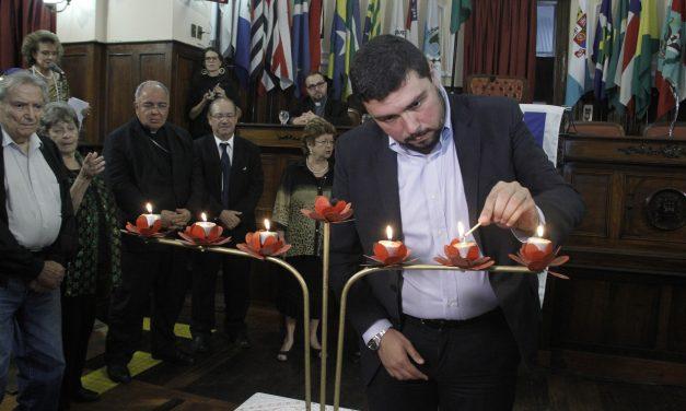 Bruno Lessa preside sessão em memória às vítimas do Holocausto
