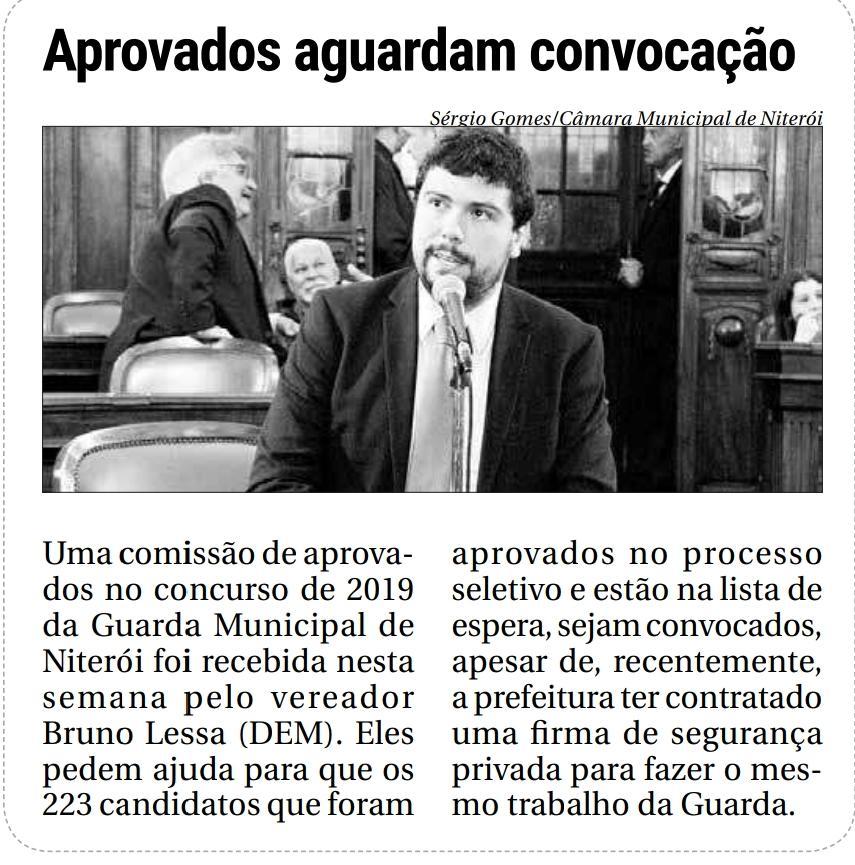 Matéria do jornal O Fluminense