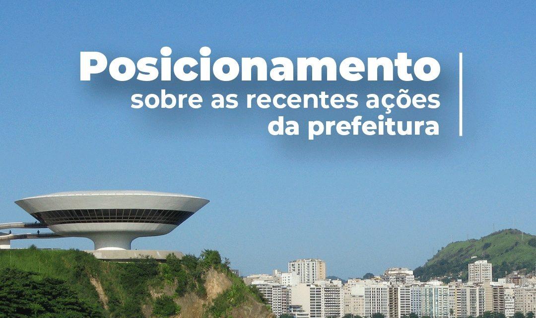 Posicionamento sobre as recentes ações da Prefeitura de Niterói